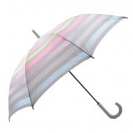 Guarda-chuva longo automático cinza e listrado Esprit