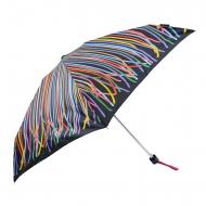Benetton mini guarda-chuva manual às riscas multicoloridas