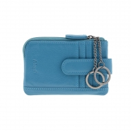 Porta-cartão de couro, bolsa e porta-chaves