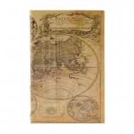 Tipo de livro seguro com mapa-múndi