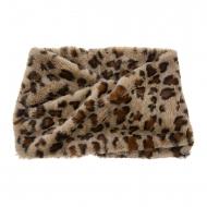 Colarinho de senhora com estampa de leopardo marrom