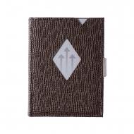 Carteira Exentri em couro marrom com RFID
