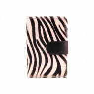 Carteira zebra de carteira de pele