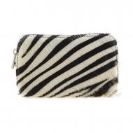 Bolsa de couro com estampa de zebra