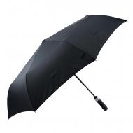 Guarda-chuva preto com punho de abrir-fechar