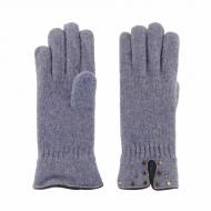 Luvas em lã com tachas em couro