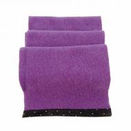 Cachecol de lã com pele viva e toupeira