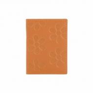Titular de cartão de couro com flores gravadas