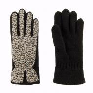 Luvas de lã e leopardo