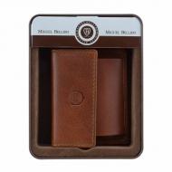 Carteira de bolsa e porta-cartões de couro Miguel Bellido