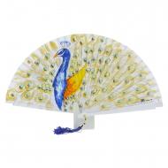 Fã de design de pavão azul