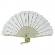 rendas ventilador e de casamento de seda