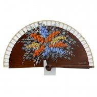 couro projeto Fan mini-flores de madeira